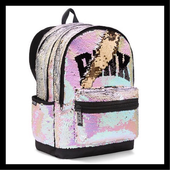 20844c00aa NIP PINK Victoria s Secret Sequin Bling Backpack